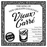 Historic New Orleans Cocktail the Vieux Carre aka French Quarter royalty free stock photo