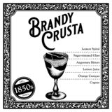 Historic New Orleans Cocktail the Brandy Crusta royalty free stock images