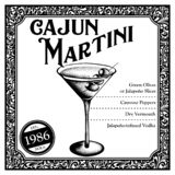 Historic New Orleans Cocktail the Cajun Martini stock images