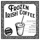 Historic New Orleans Cocktail the Frozen Irish Coffee royalty free stock images