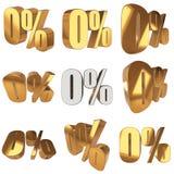 Null percent on white background Stock Image