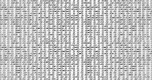 Null und ein schwarzer binärer digitaler Code auf weißem Hintergrund, computererzeugter nahtloser Schleifenzusammenfassungs-Beweg stock abbildung