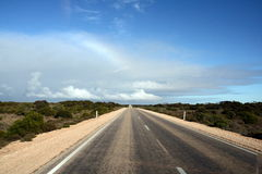 Nullarbor Plain Highway, Australia Royalty Free Stock Photo