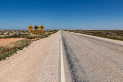The Nullarbor Plain is a treeless vast expanse of flat land bordering on the cliffs of the Great Australian Bight Stock Image