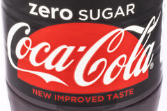 Nullsugar coca cola Lizenzfreie Stockbilder