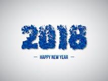 2018 numéricos abstractos Concepto del Año Nuevo Imagen de archivo libre de regalías