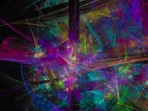 Numérique abstrait de fractale, numérique magique abstrait de fractale saturé photos stock