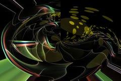 Numérique abstrait, dynamique de magie de conception moderne d'imagination de calibre de fractale illustration libre de droits