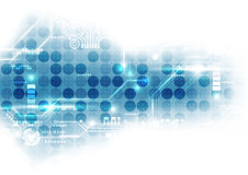 Numérique futuriste de technologie carte de technologie jeu de puces de technologie abrégez le fond Vecteur illustration de vecteur