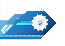 Numérique futuriste de technologie, conception graphique de technologie illustration libre de droits