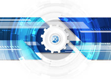 Numérique futuriste de technologie, conception graphique de technologie, technologie infographic, fond abstrait, vecteur illustration stock