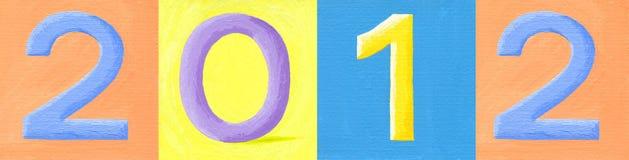 Numéro 2012 illustration stock