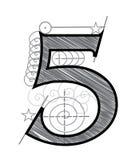 Numéro 5 Images libres de droits