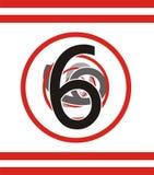 Numéro 6 Images libres de droits