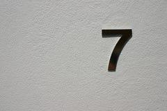 Numéro 7 Photos libres de droits