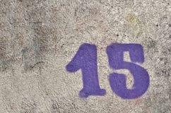 Numéro 15 photo libre de droits