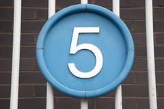 Numéro cinq photos libres de droits