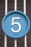 Numéro cinq photo libre de droits