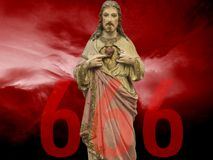 Numéro 666 comme signe d'antichriste Photos libres de droits