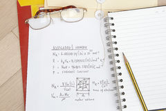 Numéro d'Avogadros image libre de droits
