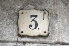 Numéro d'identification de bâtiment Photographie stock libre de droits