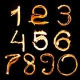 Numéro d'incendie Photo stock