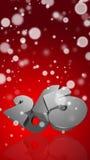 Numéro 2015 dans 3D sur le fond rouge Photographie stock