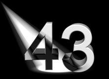 Numéro dans le projecteur Image libre de droits