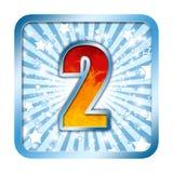 Numéro de célébration d'alphabet - 2 deux image libre de droits