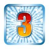 Numéro de célébration d'alphabet - 3 trois images libres de droits