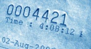 Numéro de facture Image stock