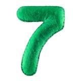 Numéro 7 de feutre de vert Photos libres de droits