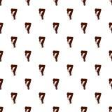Numéro 7 de l'alphabet latin fait de chocolat illustration de vecteur