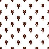 Numéro 8 de l'alphabet latin fait de chocolat illustration libre de droits