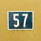 Numéro de maison 57 Image libre de droits