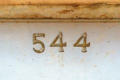 Numéro de maison 544 Photos libres de droits