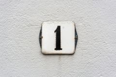 Numéro de maison 1 Photographie stock