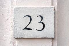 Numéro de maison 23 Photos libres de droits