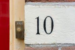 Numéro de maison 10 Photographie stock