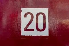 Numéro de maison 20 photo libre de droits