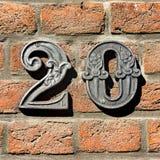 Numéro de maison 20 photo stock