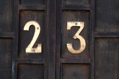Numéro de maison 23 Photographie stock