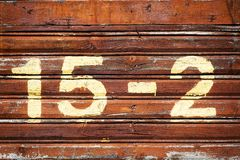 Numéro de maison image stock