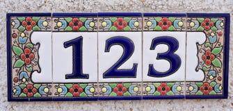 Numéro de maison Image libre de droits