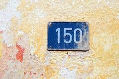 Numéro de maison 150 Photographie stock