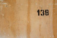 Numéro de maison 138 images stock
