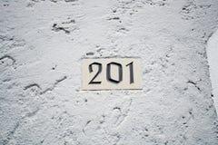 Numéro de maison Photographie stock libre de droits