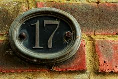 Numéro de maison Photographie stock