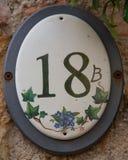 Numéro de maison 18 b dans le sul Mincio de Borghetto Image libre de droits