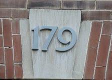 Numéro de maison fleuri Images libres de droits